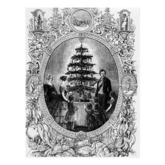 Christmas Tree at Windsor Castle, 1848 Postcard