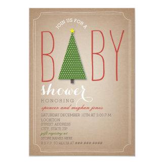 Christmas Tree Baby Shower Invitation