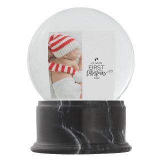 Christmas Tree Baby's First Christmas Photo Snow Globe