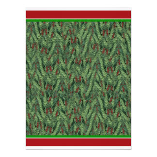 Christmas Tree Background 6.5x8.75 Paper Invitation Card
