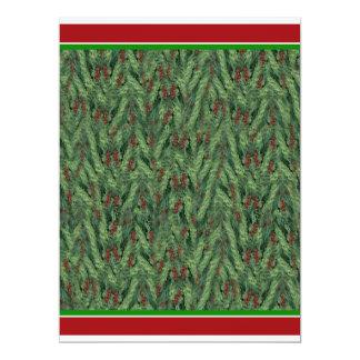 Christmas Tree Background 17 Cm X 22 Cm Invitation Card