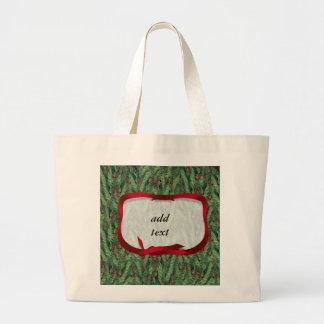 Christmas Tree Background Jumbo Tote Bag