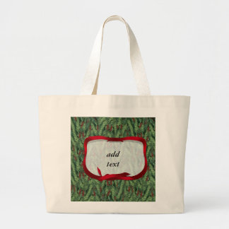 Christmas Tree Background Canvas Bag