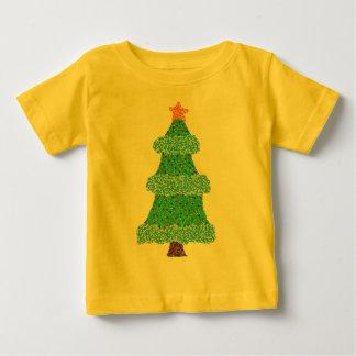 Christmas Tree Blue Garland Orange Star Tee
