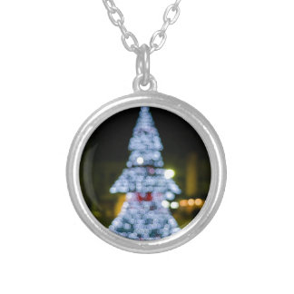 Christmas Tree Bokeh Personalized Necklace