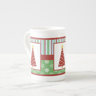 Christmas Tree Bone China Mug