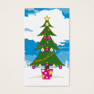 Christmas Tree Bookmark Business Card