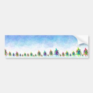 Christmas tree border sticker. bumper sticker