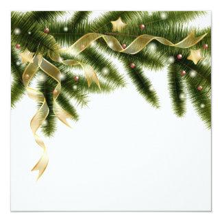 Christmas tree branch Invitation 13 Cm X 13 Cm Square Invitation Card