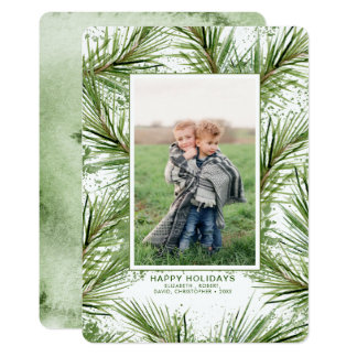 Christmas Tree Branches Holiday Photo Card