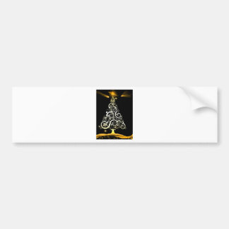 Christmas tree bumper sticker
