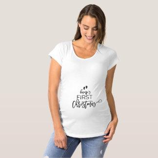 Christmas Tree Bump's First Christmas Holiday Maternity T-Shirt