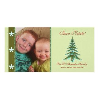 Christmas Tree Buon Natale Photo Holiday Card