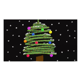 Christmas Tree Business Card Templates