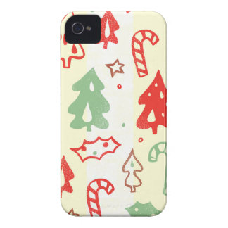 Christmas Tree Candy Cane Holly Pattern Case-Mate iPhone 4 Case