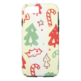 Christmas Tree Candy Cane Holly Pattern iPhone 7 Case