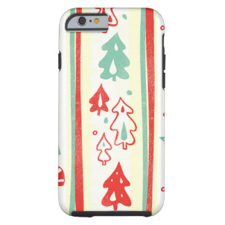 Christmas Tree Candy Cane Stripe Pattern Tough iPhone 6 Case