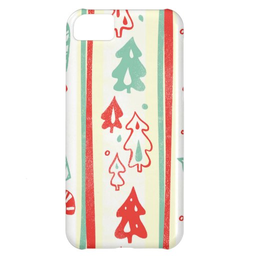Christmas Tree Candy Cane Stripe Pattern iPhone 5C Case