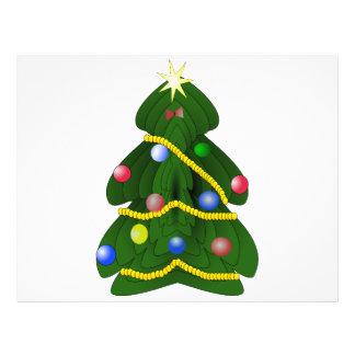 Christmas tree cartoon 21.5 cm x 28 cm flyer