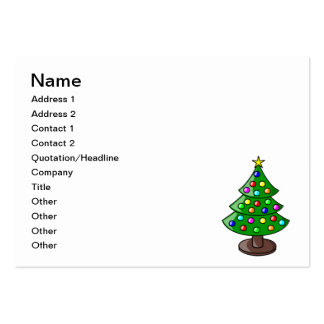Christmas tree cartoon business card template