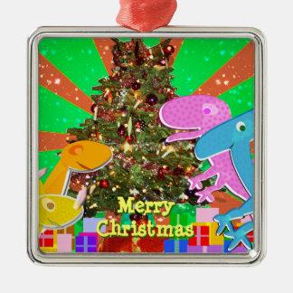 Christmas Tree Cartoon Dinosaurs Ornament