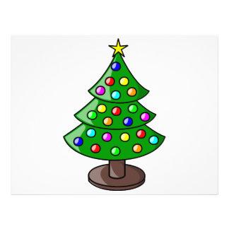 Christmas tree cartoon full color flyer