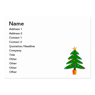 Christmas tree cartoon pack of chubby business cards