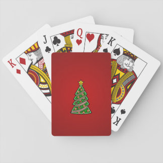 Christmas tree cartoon playing cards