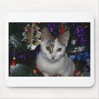 Christmas Tree Cat Mouse Pad