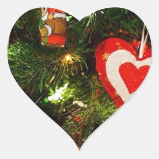 Christmas Tree Celebration Christmas Decoration Heart Sticker