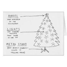 Christmas Tree Chart Funny Greeting Card
