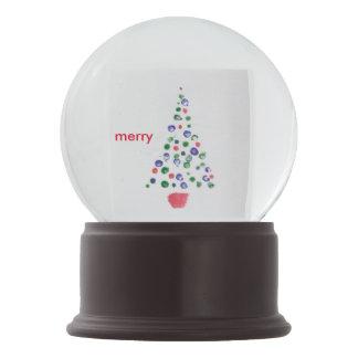 Christmas Tree Christmas Card Merry Whatever Snow Globe