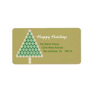 Christmas Tree Christmas Return Address Label
