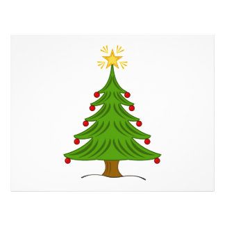 Christmas tree clipart full color flyer