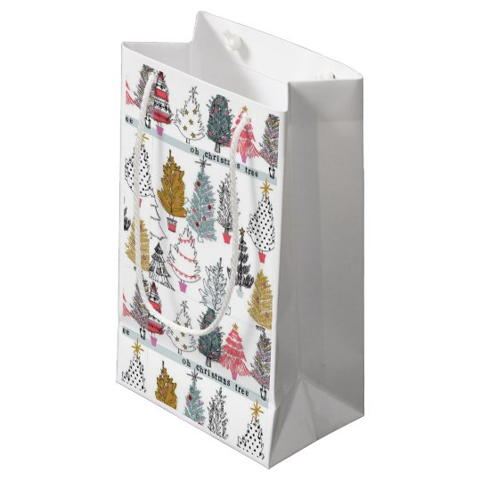 Christmas Tree Collage Gift Bags