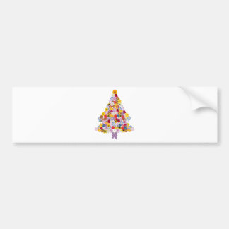 Christmas Tree Collage of Flowers in Bloom Bumper Sticker