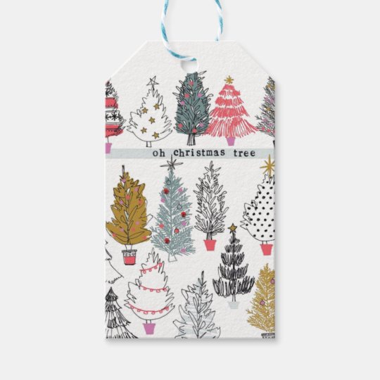Christmas Tree Collage Tags