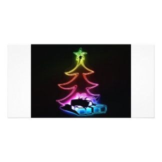 christmas tree customised photo card