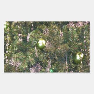 Christmas Tree Decor Rectangle Sticker