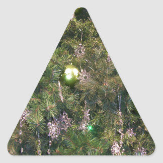 Christmas Tree Decor Triangle Sticker