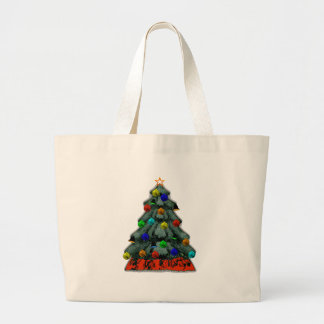 Christmas Tree Decorated The MUSEUM Zazzle Gifts Canvas Bags