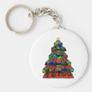 Christmas Tree Decorated The MUSEUM Zazzle Gifts Key Chains