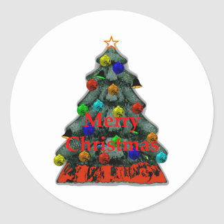 Christmas Tree Decorated The MUSEUM Zazzle Gifts Sticker
