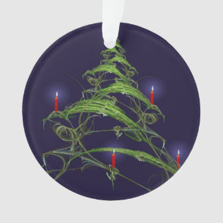 Christmas Tree Decorated With Candles Ornament