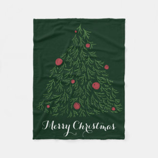Christmas tree decoration modern Christmas tree Fleece Blanket