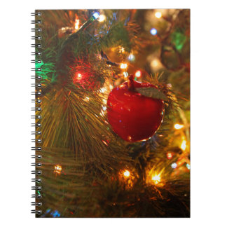Christmas Tree Decoration Spiral Notebook