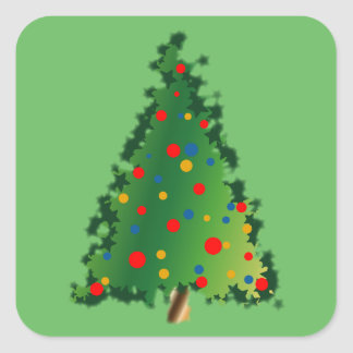 Christmas Tree Decoration on Stickers