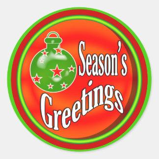 Christmas tree decoration round sticker