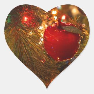 Christmas Tree Decoration Heart Sticker