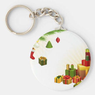 Christmas tree decorations and gifts key chain